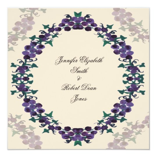 Grapevine Wreath Wedding Invitation