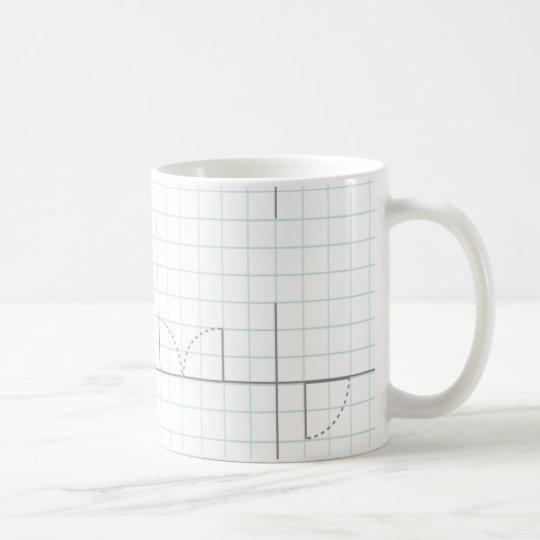Graph Paper Design Coffee Mug