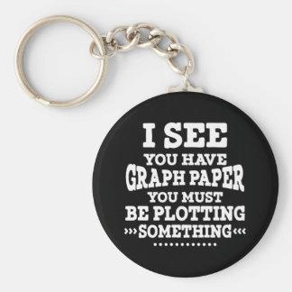 Graph Paper Plotting Something Pun Math Teacher Key Ring
