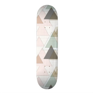 Graph PAPER trifishes by SIRAdesign Skateboard Deck