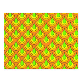 graphic 70s pattern postcard