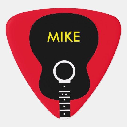 graphic acoustic guitar personalised guitar pick