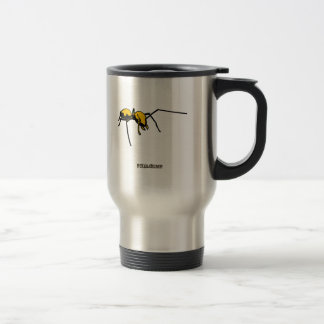 Graphic Ant Yellow Outline Coffee Mugs