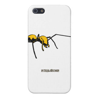 Graphic Ant Yellow Outline iPhone 5 Case