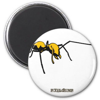 Graphic Ant Yellow Outline Magnet