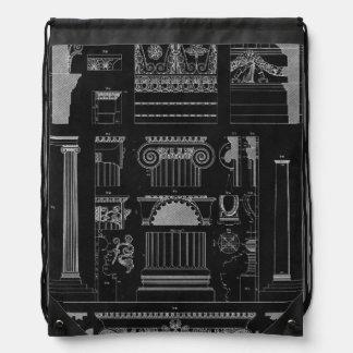 Graphic Architecture IV Drawstring Bag