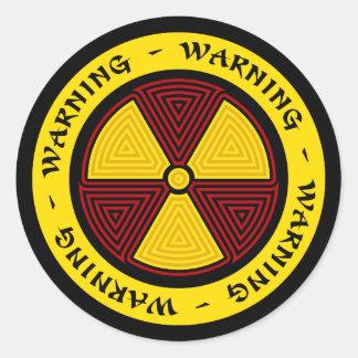 Graphic Art Radiation Symbol Sticker