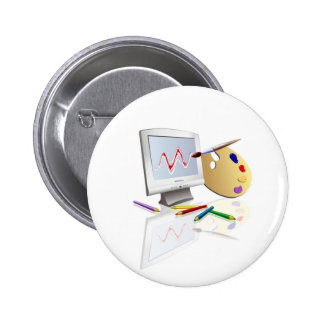 Graphic Arts 6 Cm Round Badge