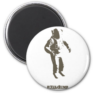 Graphic Astronaut Stencil Magnets