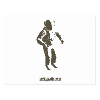 Graphic Astronaut Stencil Postcard
