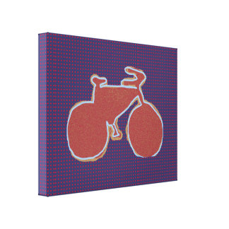 graphic bike decor wall canvas print