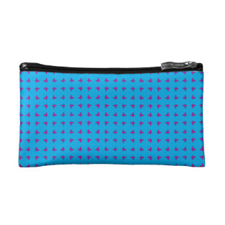 Graphic Butterflies   Blue Cosmetic Bags