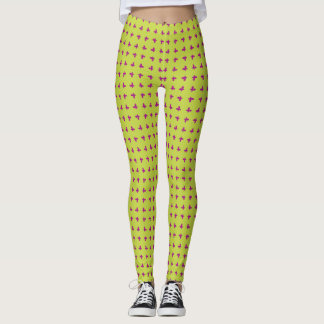 Graphic Butterflies | Lime Leggings