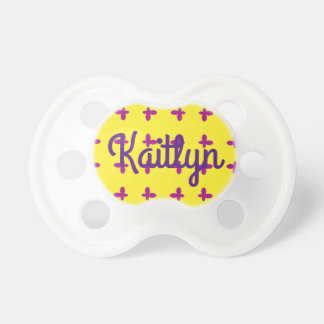 Graphic Butterflies   Yellow Baby Pacifier
