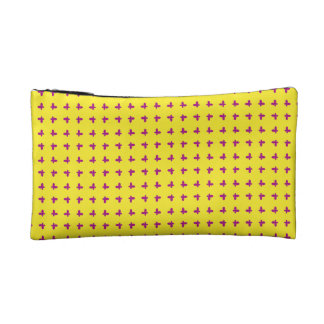 Graphic Butterflies | Yellow Cosmetic Bags