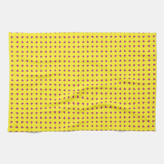 Graphic Butterflies | Yellow Tea Towel