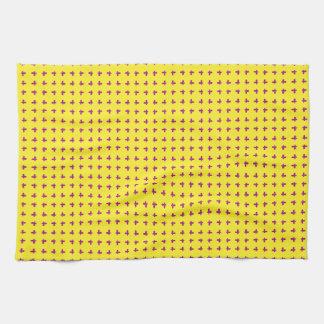 Graphic Butterflies | Yellow Tea Towels