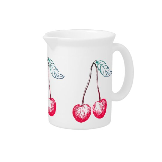 Graphic Cherry Pitcher