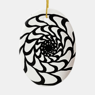 Graphic Circle Design Christmas Ornament
