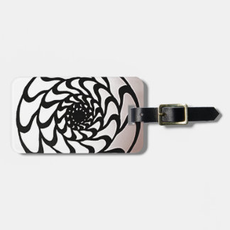 Graphic Circle Design Luggage Tag
