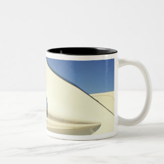 Graphic: Close-up of fin and taillight on Two-Tone Coffee Mug