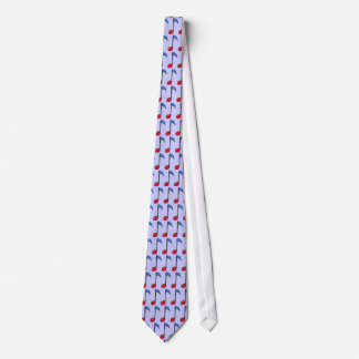 graphic colorful music note tie