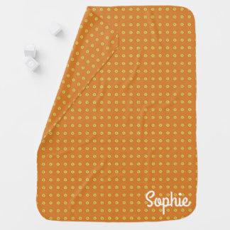 Graphic Daisies   Orange Baby Blanket