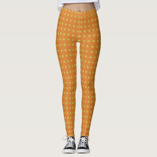 Graphic Daisies | Orange Leggings