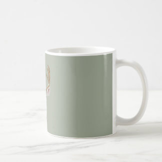 Graphic deer coffee mug