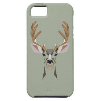 Graphic deer iPhone 5 cover