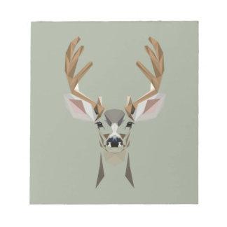 Graphic deer notepad