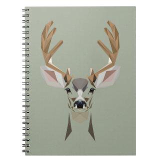 Graphic deer spiral notebook
