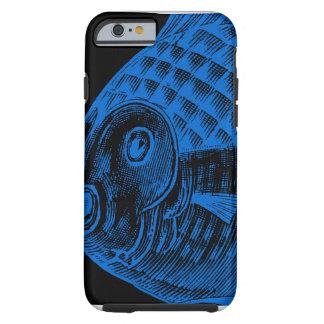 Graphic Design Blue Blow Fish iPhone 6 Case Tough iPhone 6 Case