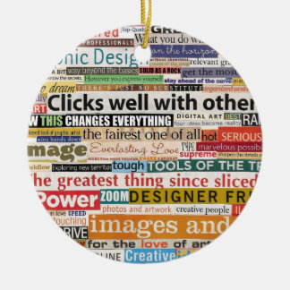 Graphic Design Christmas Ornament