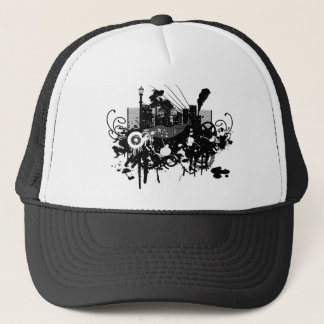 Graphic Design City Skyscraper! Trucker Hat