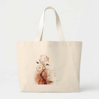 Graphic Design Floral Tote Bags