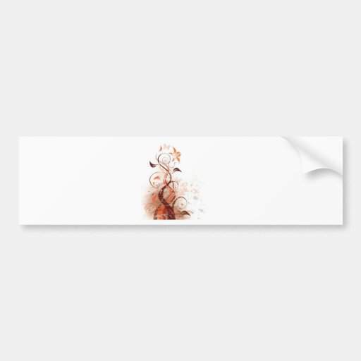 Graphic Design Floral Bumper Sticker