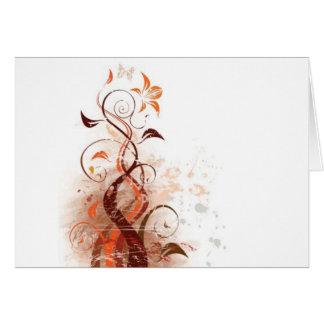 Graphic Design Floral Greeting Card