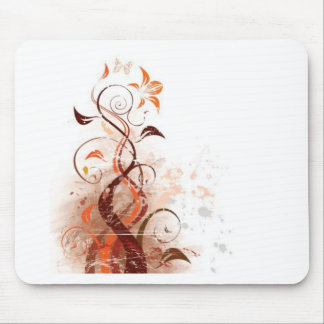 Graphic Design Floral Mouse Pads