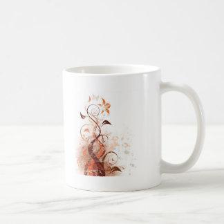 Graphic Design Floral Coffee Mug