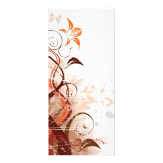 Graphic Design Floral Personalised Rack Card