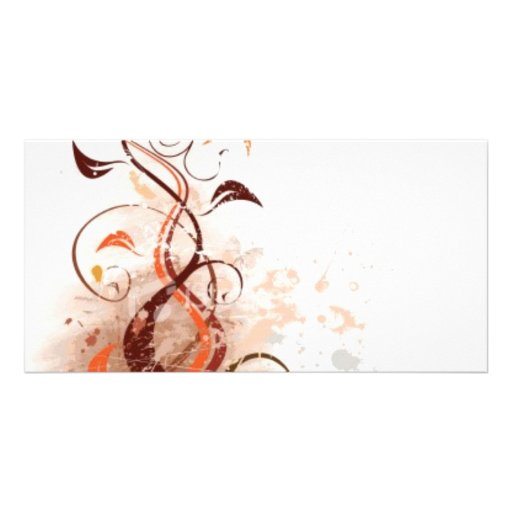 Graphic Design Floral Photo Cards