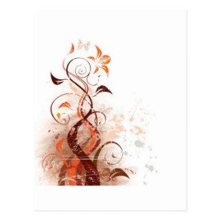 Graphic Design Floral Postcard