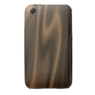Graphic design of Chocolate Brown Satin Fabric Case-Mate iPhone 3 Case