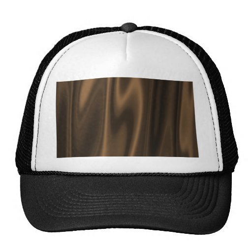 Graphic design of Chocolate Brown Satin Fabric Trucker Hat