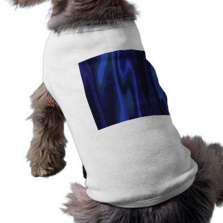 Graphic design of Cobalt Blue Satin Fabric Sleeveless Dog Shirt