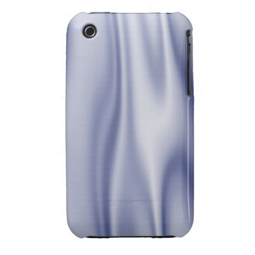 Graphic design of Light Blue Satin Fabric iPhone 3 Case-Mate Case