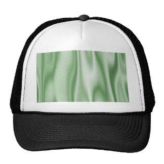 Graphic design of Light Green Satin Fabric Trucker Hat
