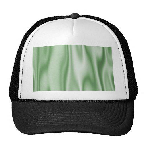 Graphic design of Light Green Satin Fabric Mesh Hat
