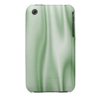 Graphic design of Light Green Satin Fabric iPhone 3 Case-Mate Case